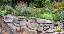 Bruchsteinmauer im Haus oder Garten